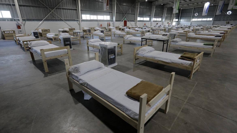 Más donaciones para el hospital de campaña en Ezeiza
