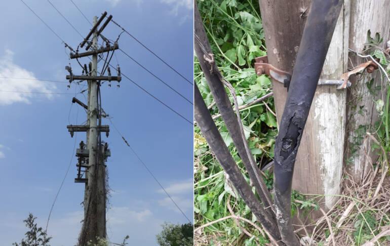 Hurto de cables: atacan una instalación y 1800 usuarios fueron afectados