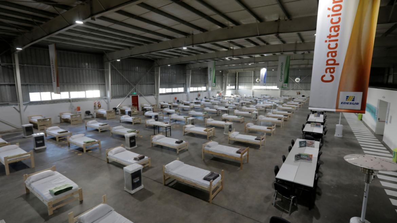 Edesur y la Municipalidad de Ezeiza vuelven a montar un hospital de campaña